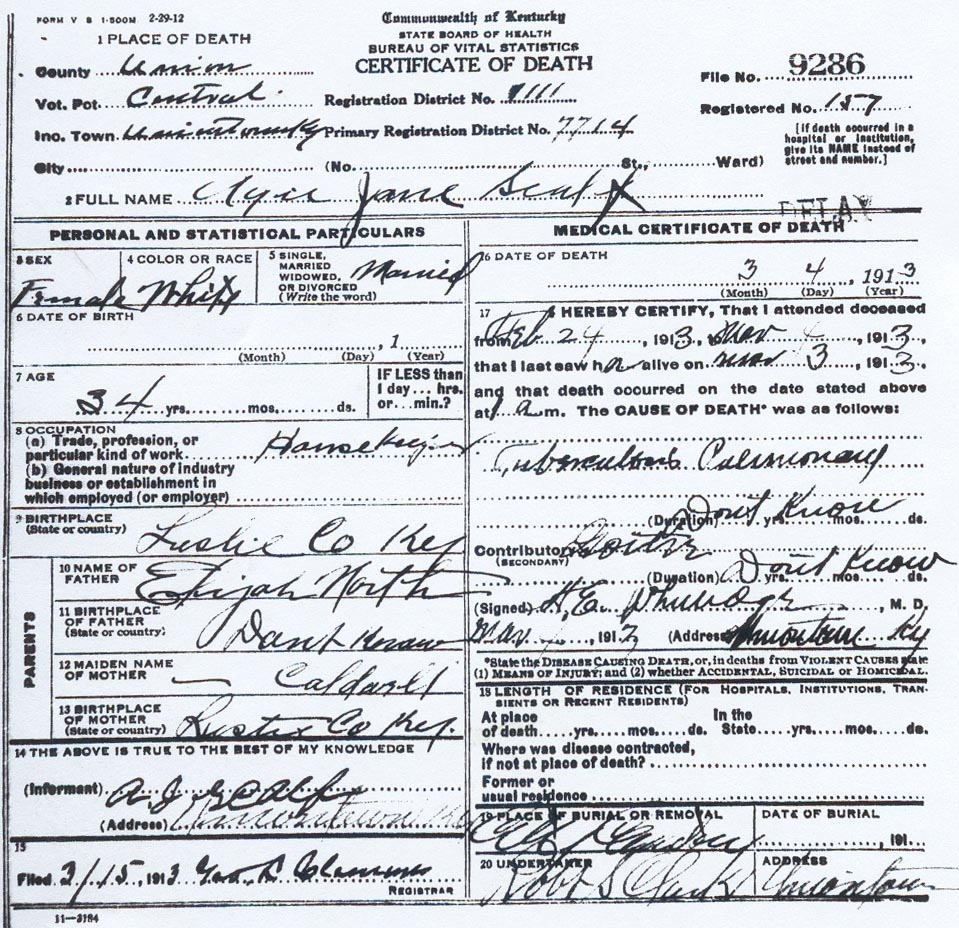 Ira scalf son of john scalf to death certificate aiddatafo Images