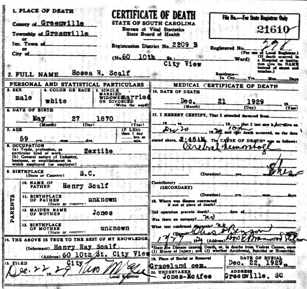 Miscellaneous scalf families eas link to death certificate for hosea scalf aiddatafo Images